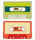 Brush audio tapes Stock Photo