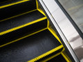 Brush bristles of escalator for danger accident concept stair reduce Royalty Free Stock Photos