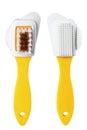 Brush fetloc fetlock plastic instrument hygiene homework home utensil wash tool sweeping handle sweep sanitation object cleanup Stock Photo