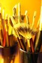Brush in jar Stock Photo