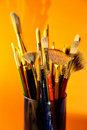 Brush in jar Royalty Free Stock Image