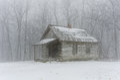 Brush Mountain schoolhouse winter. Royalty Free Stock Photo