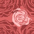 Brush painted wave seamless pattern. Pink rose floral grunge background. Royalty Free Stock Photo