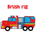 Brush rig with hand draw