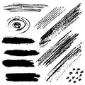 Brush strokes grungy vector illustration eps Stock Photography