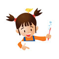 Brush the teeth vector eps cartoon pointer Royalty Free Stock Photography