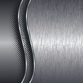 Brushed aluminium metal background with border Royalty Free Stock Photo