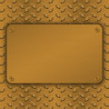 Brushed Brass, copper latticed surface template. Abstract industrial techno vector illustration. Metal background Royalty Free Stock Photo