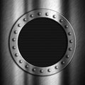 Brushed metal background with porthole Royalty Free Stock Image