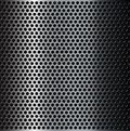Brushed metal grid perforated background Stock Images