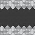 Brushed metal mosaics on texture background mosaic tile border a black Stock Photos
