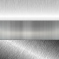 Brushed metal plate collection for banners Royalty Free Stock Image