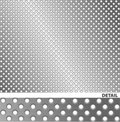 Brushed metal surface with holes. Stock Image