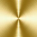 Brushed metal texture shiny gold background with copy space Royalty Free Stock Photos