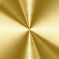 Brushed metal texture shiny gold background with copy space Stock Photography