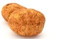 Brushed potato fresh potatoes on white background Royalty Free Stock Photography