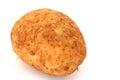 Brushed potato a fresh on white background Royalty Free Stock Images