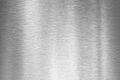 Brushed silver metal plate Royalty Free Stock Photo