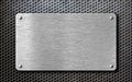 Brushed Steel Metal Plate Back...