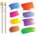 Brushes and grunge painted elements Royalty Free Stock Photos