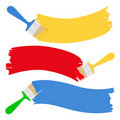 Brushes and paint Royalty Free Stock Photo