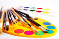 Brushes and paints Royalty Free Stock Photography