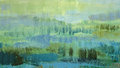 Brushstrokes green oil paint on canvas. Abstract background. Royalty Free Stock Photo