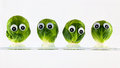 Brussel sprout heads Royalty Free Stock Photo