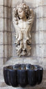 Brussels the baroque stoup in church notre dame du bon secource belgium june Stock Images