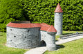 Brussels belgium may miniatures at the park mini europe reproductions of monuments in the european union at a scale tower fat Stock Photo