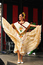 Brussels belgium september dancer of xochicalli mexican folkloric ballet performs in a concert on grand place during edition of Royalty Free Stock Image
