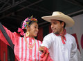 Brussels belgium september dancers of xochicalli mexican folkloric ballet perform in concert on grand place during edition of Stock Image