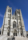 Brussels Cathedral Royalty Free Stock Photography