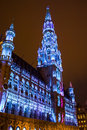 Brussels city hall photograph of the town hotel de ville detail Stock Image