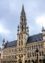 Brussels city hall photograph of the town hotel de ville detail Royalty Free Stock Photo