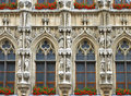 Brussels Grand Place holy statues Royalty Free Stock Photos