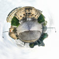 Brussels infantry monument in place poelaert little planet view Stock Image