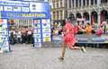 Brussels Marathon Stock Photo