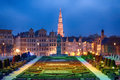 Brussels mont des arts at dusk Royalty Free Stock Photo