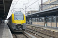 Brussels south railway station belgium september train arrives to or gare du midi this is the biggest of Stock Photography