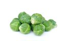 Brussels sprouts few on white background Royalty Free Stock Photos