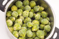 Brussels sprouts in a pot Royalty Free Stock Images