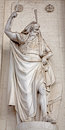 Brussels statue of moses from facade st jacques church Stock Images