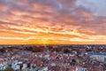 Brussels sunrise Royalty Free Stock Photo