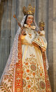 Brussels - Virgin Mary statue in the needlework Royalty Free Stock Photos