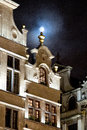 Brussels winter wonders the buildings of the grand place of are illuminated during the happening Stock Photos