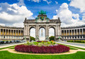 Bruxelles belgium parc du cinquantenaire with the arch built for the golden jubilee celebrations of belgian independence in Stock Photos
