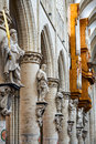 Bruxelles belgium statue of apostles built th century detail in gothic style cathedral of saint michael in brussels Royalty Free Stock Photography