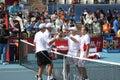 Bryan(USA)/ Bryan (USA) vs Soares (BRA)/Ullyett (Z Stock Image