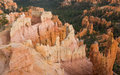 Bryce canyon from above looking over the at daytime Stock Images